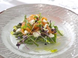 Asparagus and Salmon starter (2)